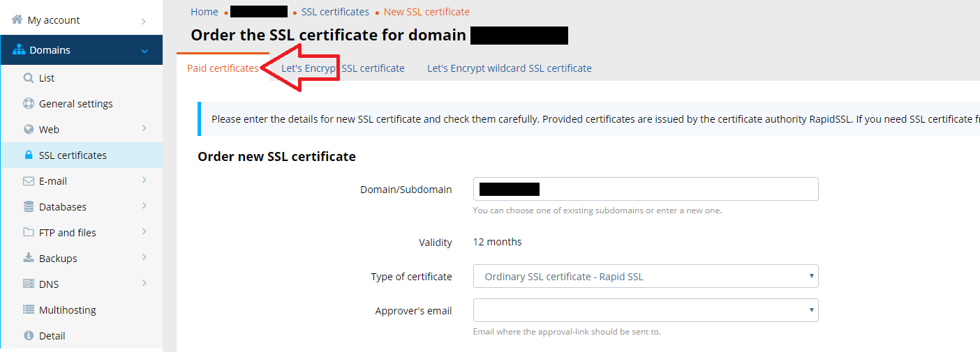 SSL certificate: Set up and redirect to https | WY Support